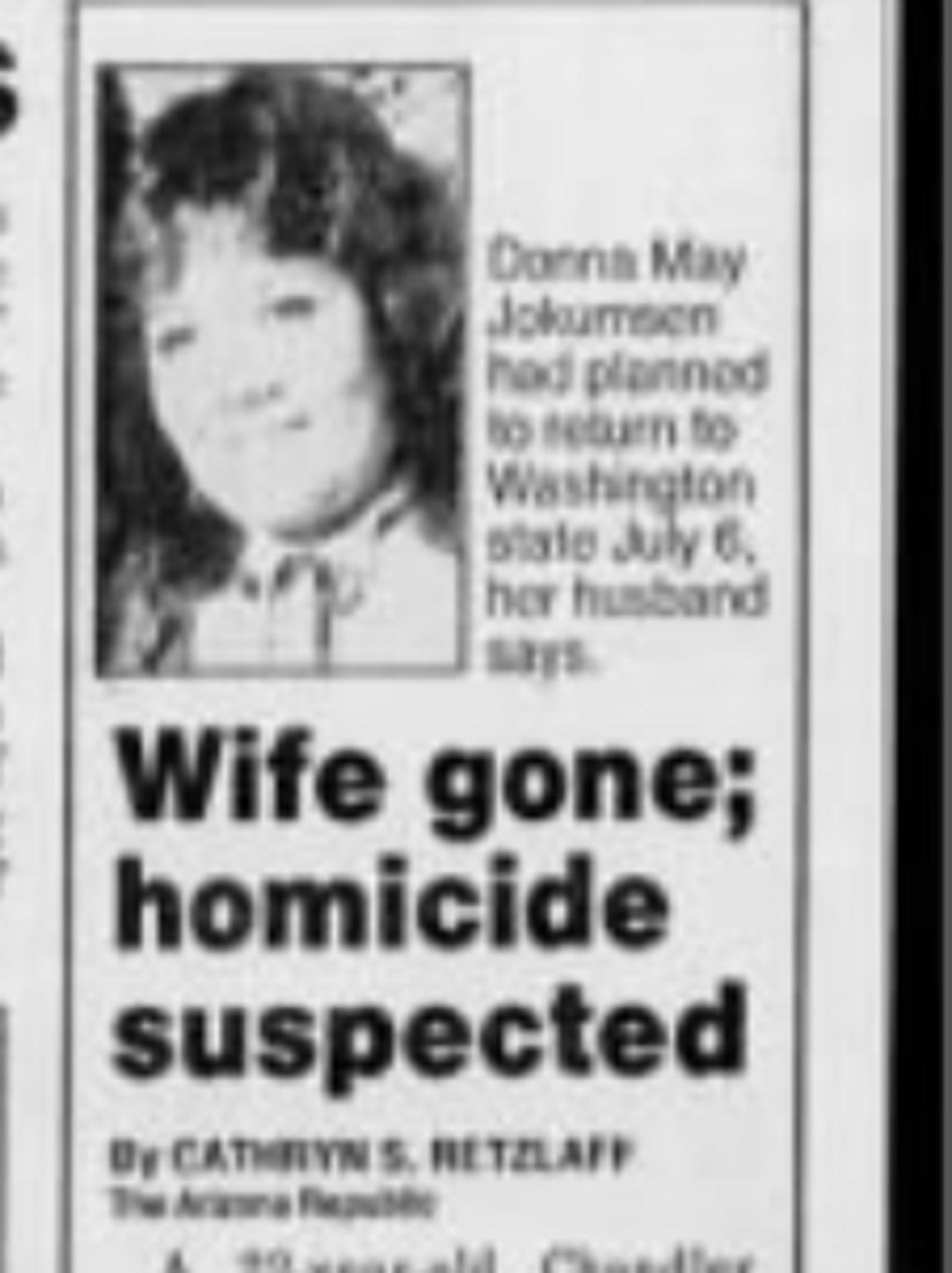 The Arizona Republic writes again about Donna Jokumsen's