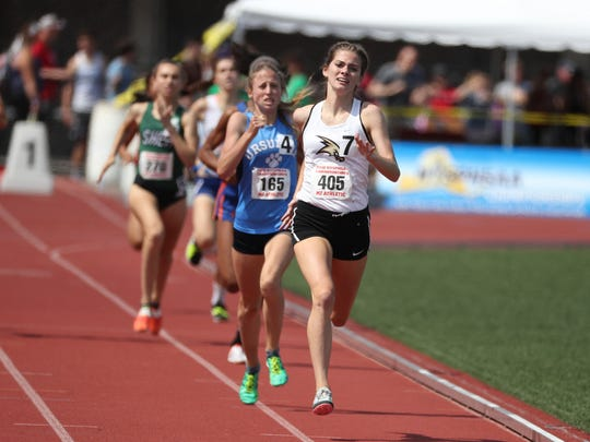 Corning's Lindsey Butler competes in the 800 meters