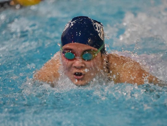 Kaitlyn Yoo competes in 100 yards butterfly at the