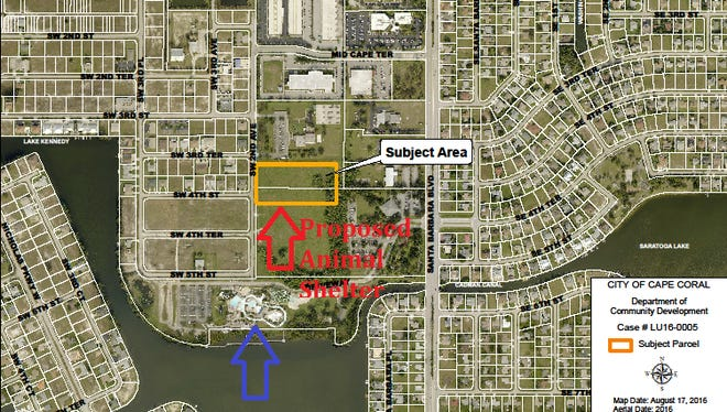 Location of proposed animal shelter in Cape Coral