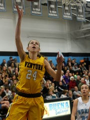 The Ventura County basketball coaches picked Ventura's Aubrey Knight as the Girls Player of the Year.