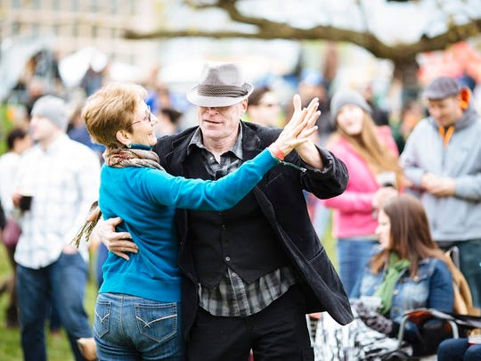 Old hippies don't die. They keep on dancing at the Charm City Folk and Bluegrass Festival in Baltimore.