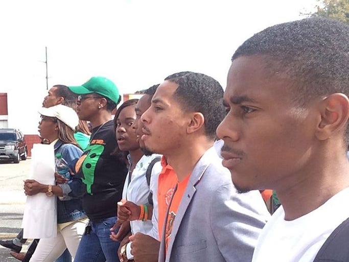 FAMU students rally in support of Mangum
