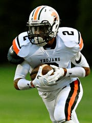 York Suburban's Savion Harrison is the third-leading rusher in the York-Adams League with 420 yards. Dawn J. Sagert photo