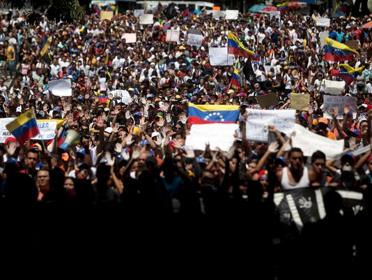 Protest Leader Surrenders In Caracas