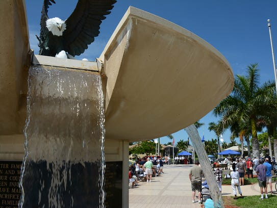 The fountain at Veterans Community Park. Lance Shearer/Marco