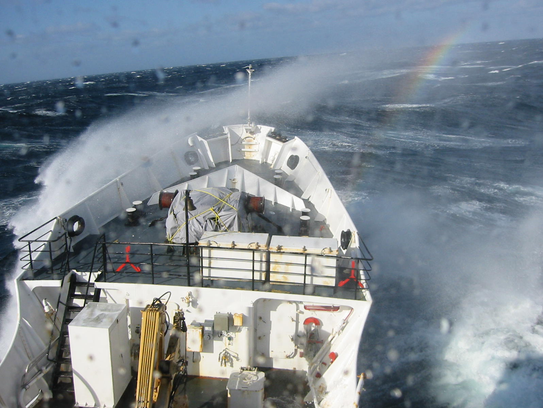 Seas could get a little rough as the ship makes its