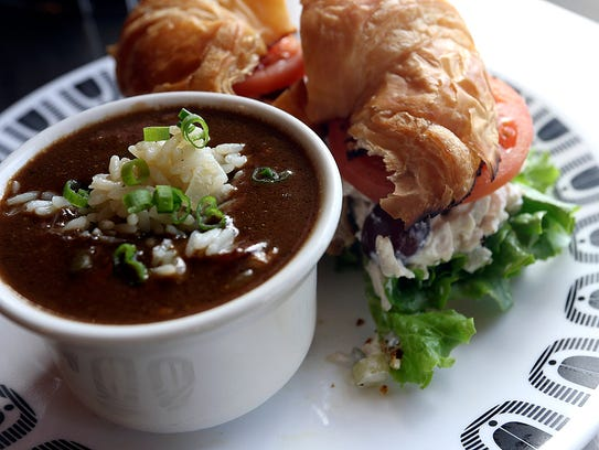 Chicken Salad Sandwich with Gumbo is one of the popular