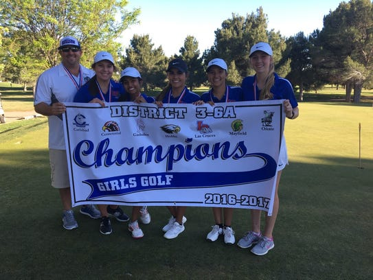 The Las Cruces High girls golf team won the District