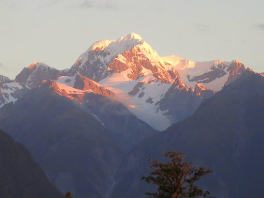 New Zealand is known for its tall peaks and mountains.