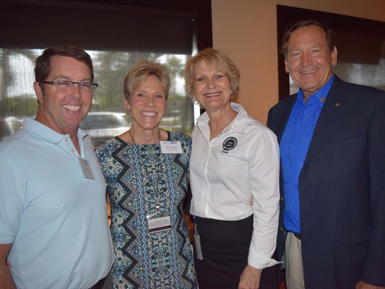 Jim Albury, left, Taryn Kryzda, Vicki Davis, and Tom