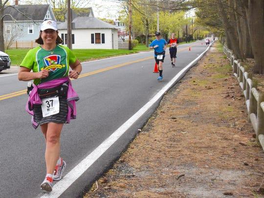 On Sunday in Reno, Holly Beck Aulen will run in her 42nd marathon.