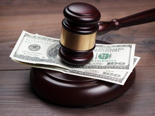 judge gavel money