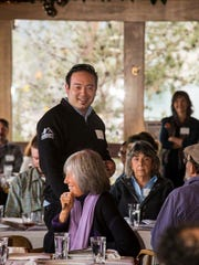 """This photo of Chef Scott Robertson was taken during a """"Know Your Farmer"""" get-together when he was still with Hyatt Regency Lake Tahoe. As Chef de cuisine for Hyatt Regency Guam, he will be hosting a farm-to-table dinner June 17."""