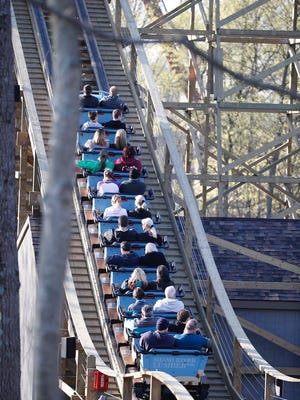 A new wooden roller coaster Mystic Timbers opened this year at Kings Island.