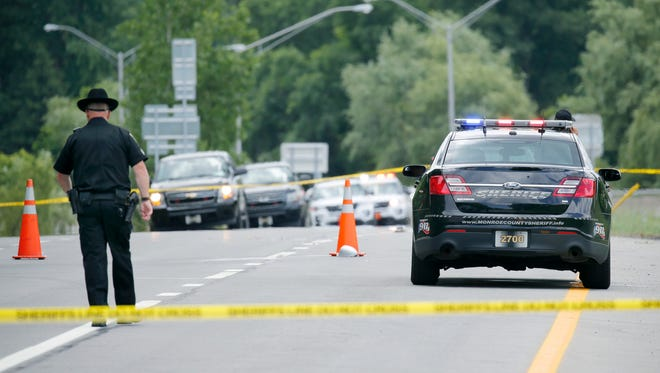 Police chase ends with one dead, one injured on I-490 at Exit 25 Wednesday, June 29, 2016.