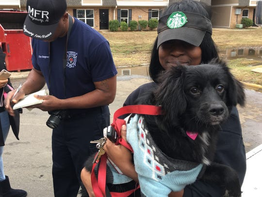 Alana Grant was at work when she heard about the fire, but was thankful MFR rescued her dog Sassy.