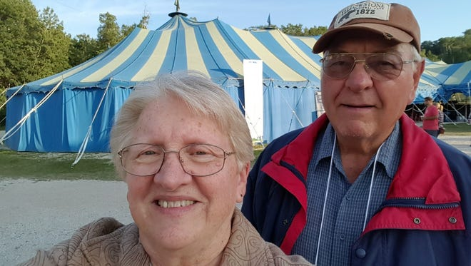 Susan and Bob Manzke at the Big Top Chautauqua by Bayfield.
