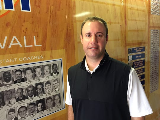 Jeff Gard, the youngest of the three Gard brothers, coaches basketball at UW-Platteville.