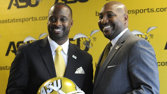 Brian Jenkins posed with ASU Athletic Director Melvin