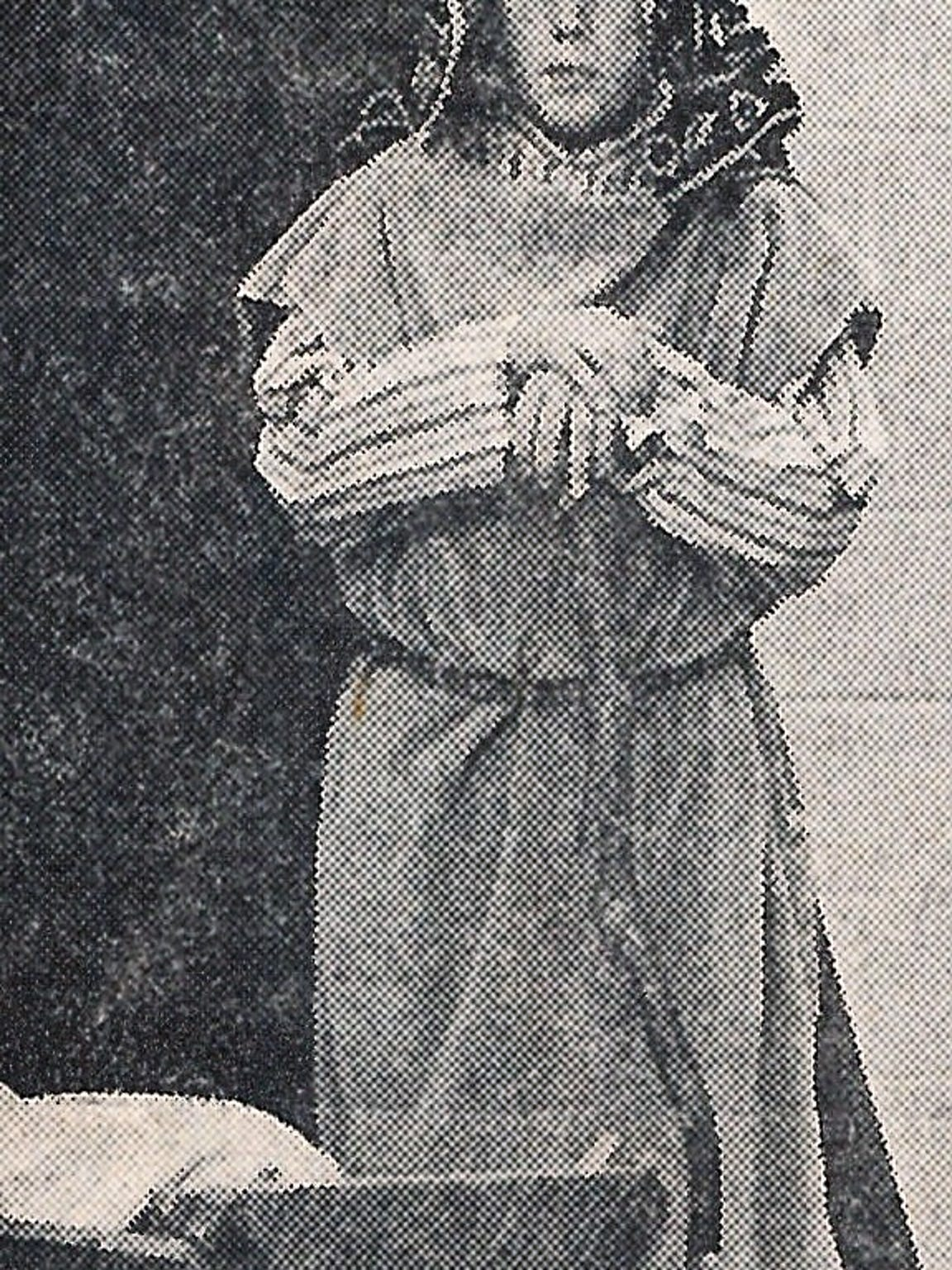 Tom Niblo in a 1973 photo, playing Joseph in the St.