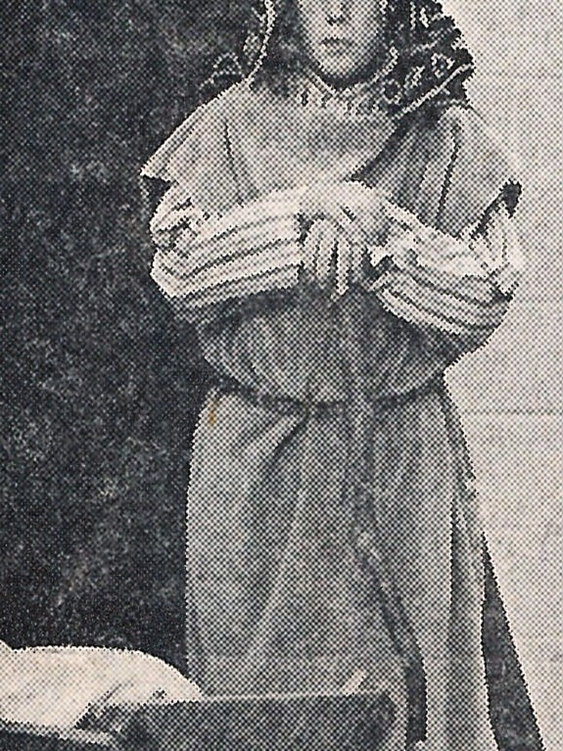 Tom Niblo in a 1973 photo, playing Joseph in the St. John's School Christmas Pageant.