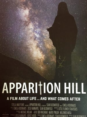 The promotional poster for Apparition Hill, which is playing in Alexandria and Lafeyette.