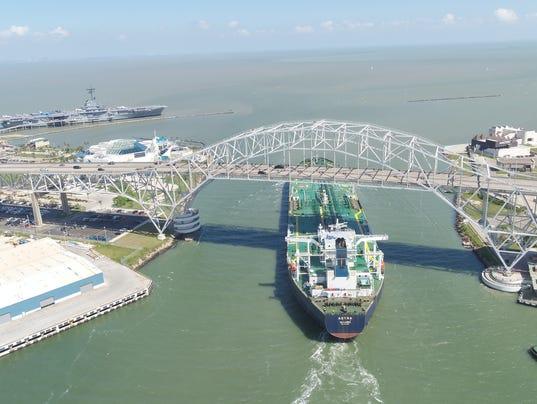 Trafigura Suezmax ship leaves port