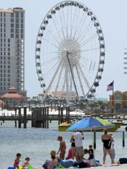 The Pensacola Beach skyline with what was once known
