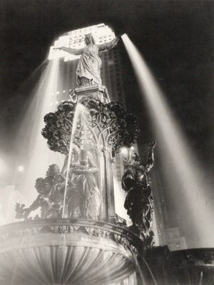 Paul Briol's iconic photograph of the Tyler Davidson Fountain shows his use of light and dark.