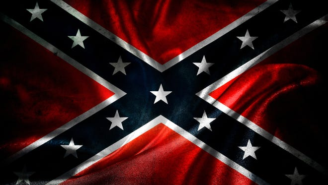 Lapel High School students embraced the Confederate flag last Wednesday and Thursday before the school banned it.