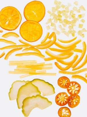 Candied citrus can add a sweet or tangy twist to a recipe.