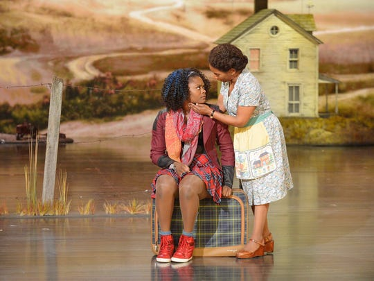 "In a dress rehersal for Thursday's live production of ""The Wiz Live!"" on NBC, Shanice Williams stars as Dorothy alongside Stephanie Mills - the original Broadway ""the Wiz"" Dorothy - as Auntie Em."