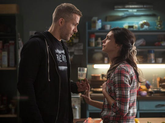 Wade Wilson (Ryan Reyonlds) and his love Vanessa (Morena Baccarin) in 'Deadpool.'
