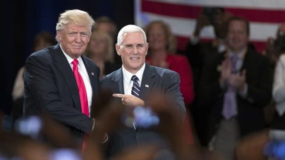 Republican presidential nominee Donald Trump and Gov.