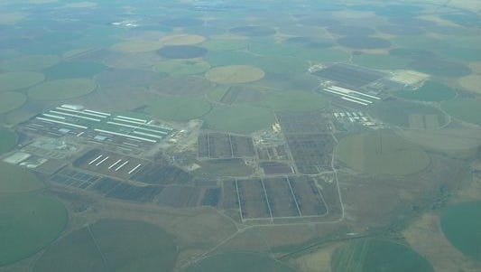 An aerial view of Threemile Canyon Farms. Another mega-dairy is proposed just east of the operation.