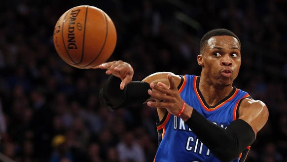 Russell Westbrook notched his fourth triple-double