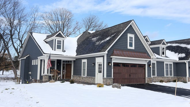 Don and Mary Alhart's new home in Pittsford.