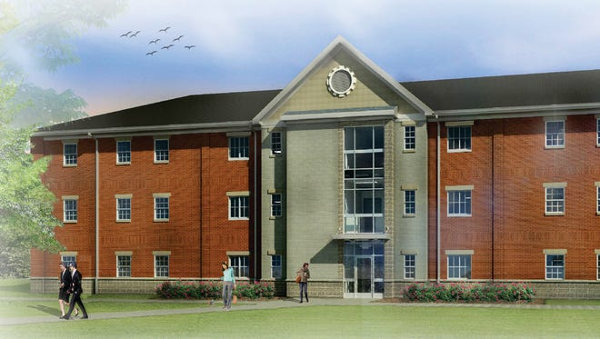 A rendering of one of the residence halls being constructed later this year at Madonna University.