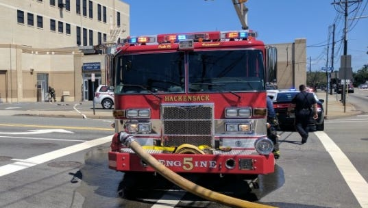 The Sears on Main Street in Hackensack was evacuated late this morning after the fire department responded to a fire alarm.