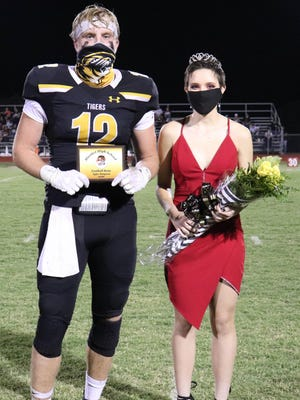 Jacy Stovall was crowned Homecoming Queen Friday night in Blanket, and Tyler Simpson was crowned Football Beau.