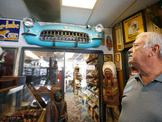 Don Johnson, owner of Don Johnson's Tobacco World on
