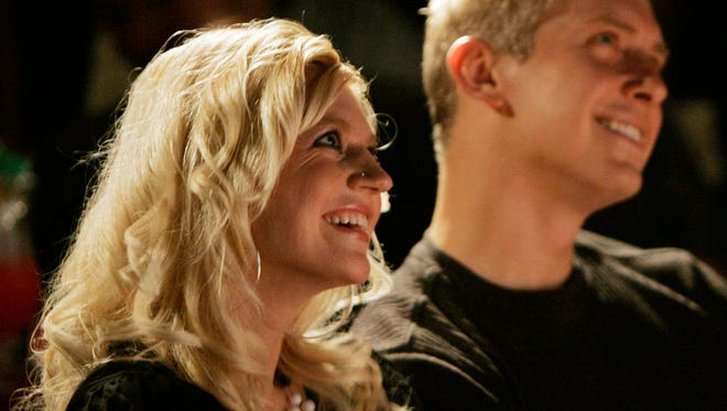 Vanessa Kluck of Stevens Point and Paul Rasmussen of Appleton enjoy the comedy at the Skyline Comedy Cafe.