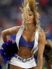 A look at the old version of the Indianapolis Colts cheerleader uniforms.