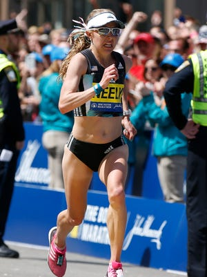 Neely Spence Gracey was the first American woman and ninth overall at the 2016 Boston Marathon.