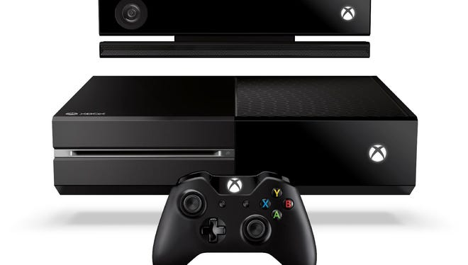 The Microsoft Xbox One entertainment system with Kinect motion controller (top), console and game controller (bottom)
