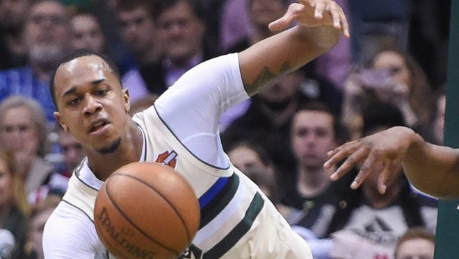Bucks center John Henson was able to play in only the first two games of the first-round series.