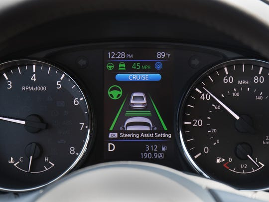 Nissan's ProPILOT Assist reduces the hassle of stop-and-go driving by helping control acceleration, braking and steering during single-lane highway driving.