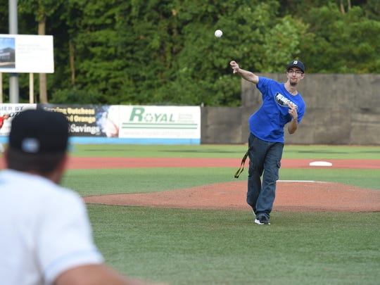 Anthony DiGiannantonio of Poughquag throws a first