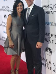 Stephen and Melissa Johnston pose on the red carpet